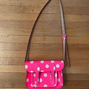 Pink polka dot satchel